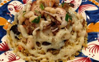福岡市大名のイタリア料理ルーチェのお魚料理